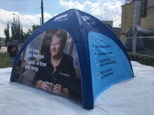 namiot pneumatyczny stałociśnieniowy